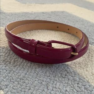 J. Crew thin purple belt